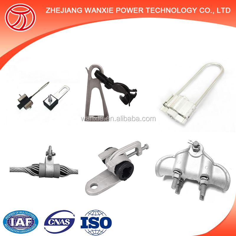 Hot dip galvanized cable suspension clamp for ADSS OPGW fiber cable fitting