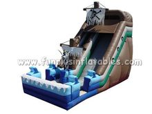 commercial inflatable dry slide for kids F4142