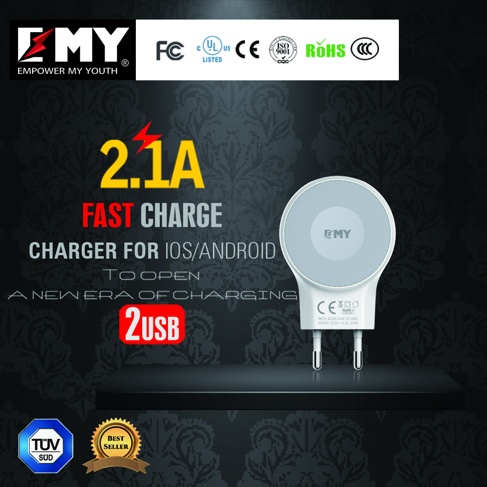 Mobile Phone Use and Electric Type 5v 2.1a micro usb wall charger