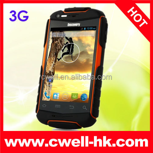 Cheap Smartphone Discovery V5+ 3G Rugged Android 4.2 MTK6572W Dual Core 3.5 Inch WIFI Dual SIM Unlocked