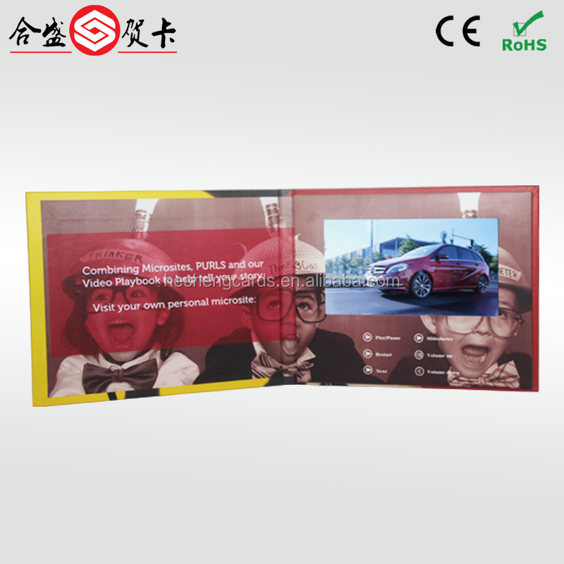 "2.4''/2.8''/4.3'/5""/7'/10'' TFT LCD video greeting card/lcd video booklet/video brochure for advertising"