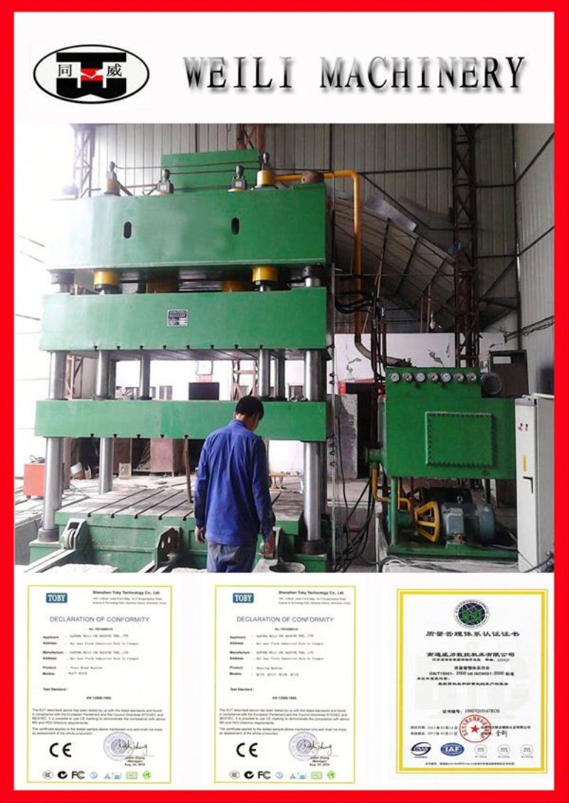 WEILI MACHINERY Top Quality Four Column 30ton reviting hydraulic press