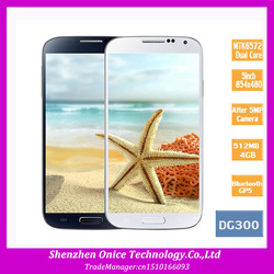 unlock dg300 mobile phone 5.0inch MTK6572 dual core 1.2Ghz android 4.2 dual sim cameras 4GB rom 512MB ram 3g smartphone