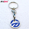 Wholesale Design Your Own Cheap Shopping Cart Metal Custom Trolley Coin Keyring