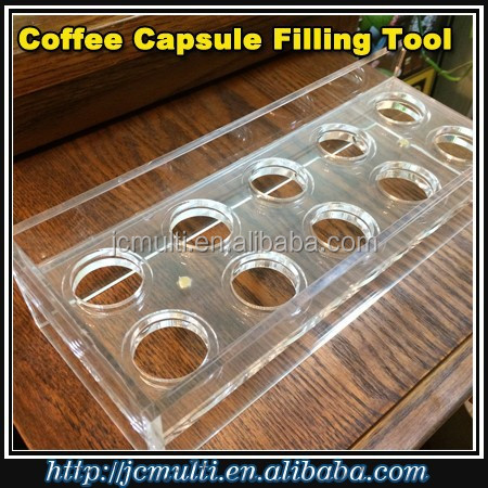 10 HOLES Manual coffee Capsule filling machine for nespresso coffee pod