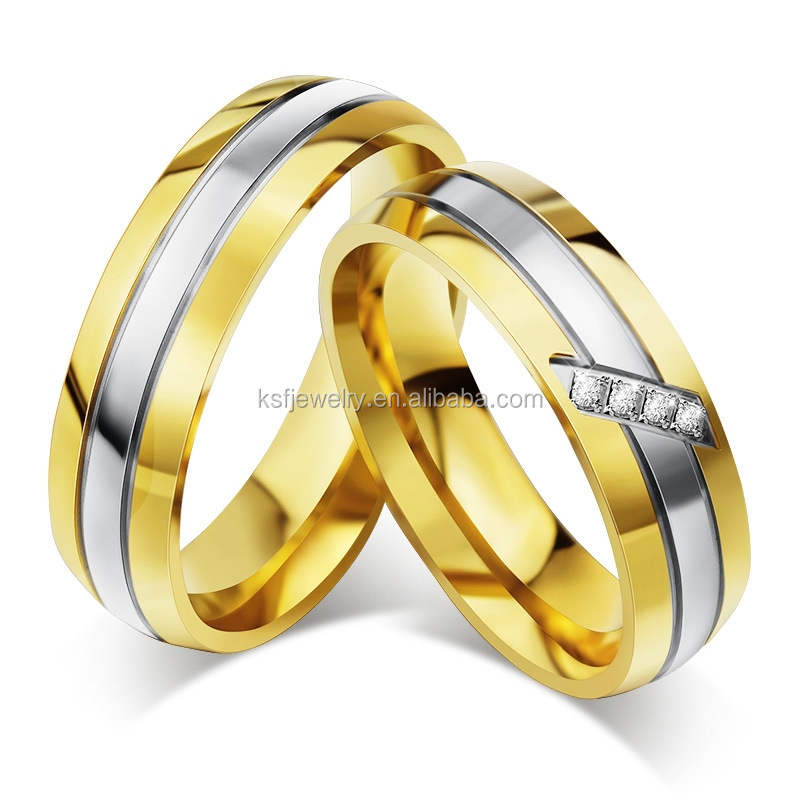 Wholesale Stainless Steel Love Gold <strong>Ring</strong> Design for Couples Valentine's day gifts