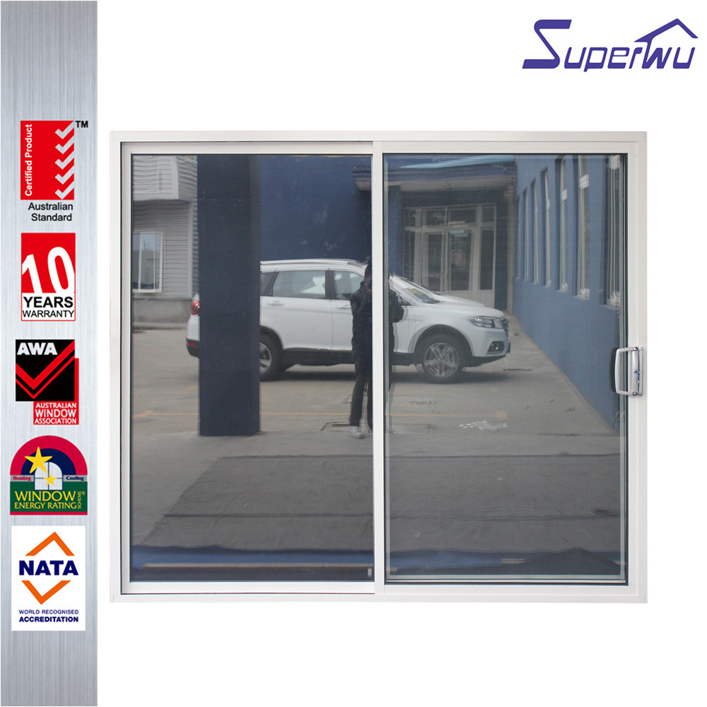 hurricane impact aluminum pantry single sliding door aluminium interior