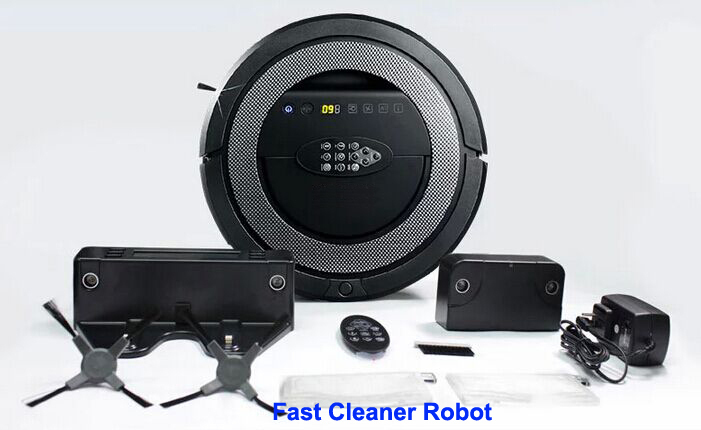 2017 Top Grade V-shaped Rolling Brush Multifunctional Good Robot Vacuum Cleaner