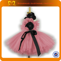 "Wholesale Girl Tutu dress with 6"" & 8"" Crochet tops and flowers"