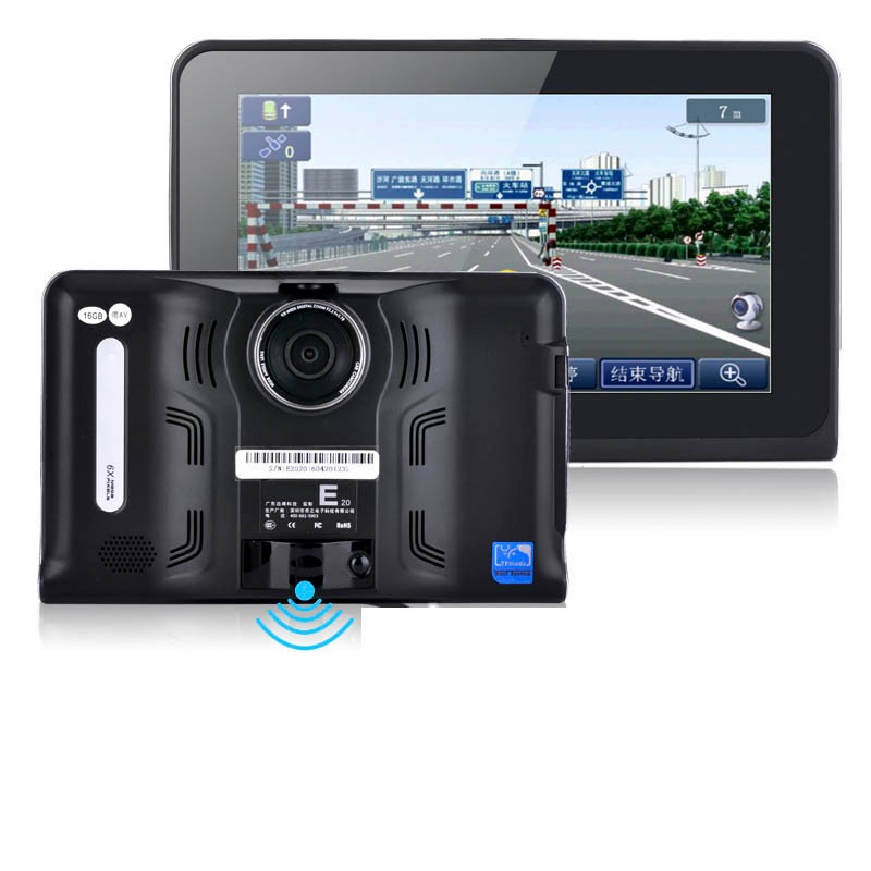 "7"" Capacitive Android Tablet PC GPS Navigation WiFi Car DVR Camera Full HD 1080P With Radar Detector Truck Vehicle GPS Navigator"