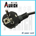 eu ac plug power cord,3pin cable VDE approval 220v,10a plug insert