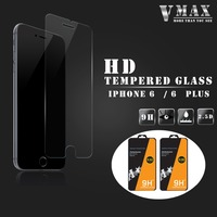 HOT Sale 9H Hardness Anti Explosion Cell Phone Clear Crystal Tempered Glass Screen Protector For iPhone 6 screen protector