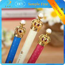 china top ten selling products 0.5mm New Fashion & Cute Golden Crown Style Ballpoint Pens for Kids Office Gift
