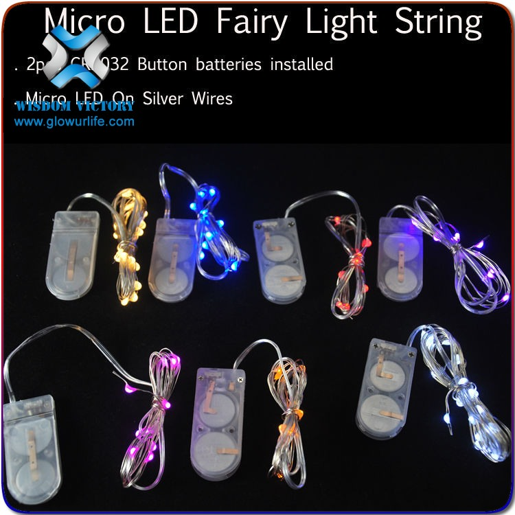 copper string lights , Mini Copper Wire CR2032 Micro Led Novelty String Lights