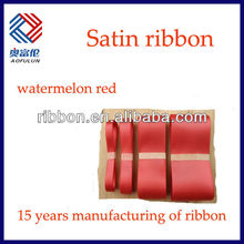 2013years watermelon red santin ribbon