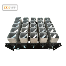 "Happiness factory hot sale 2"" inch 25 shots upgraded Aluminium fireworks shells mortar racks"