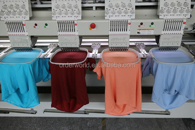 High speed tajima type 4 head embroidery machine for cap/t-shirt/flat embroidery