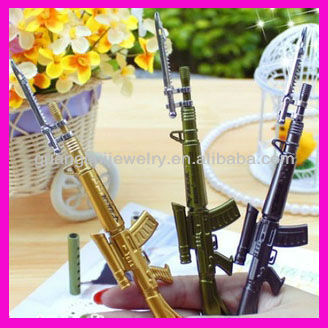 fashion plastic bayonet 3 color low price pen gun for boy
