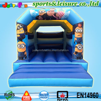 UK hotsale inflatable bouncy castle minions,bouncy castle with slide