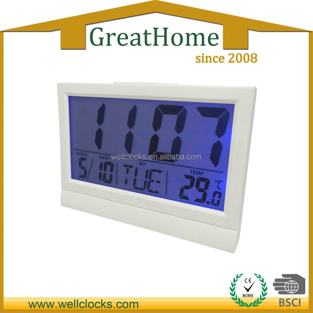 Calendar Clock Wallpaper For Desktop : Square shape digital desktop calendar clock buy