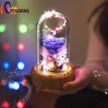 Eternal Flower Christmas Recharged LED Nightlight with Bluetooth Speaker