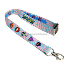 sublimation lanyard with safety buckle promotional items for world cup