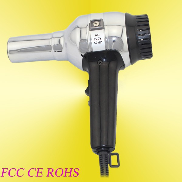 Silver Professional Style Hair Dryer Hairdryer with Concentrator Nozzle UK