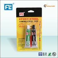 China manufacturer FL Quick Curing Time Transparent Liquid Epoxy AB Glue