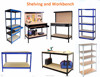 5 tier Adjustable perforated cheap metal shelving