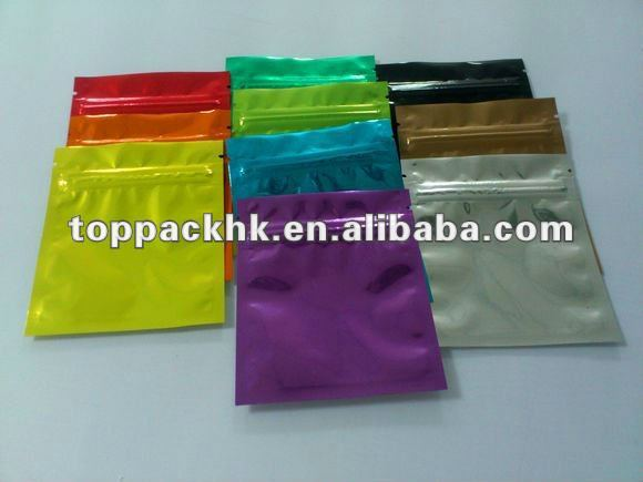 Clear bags ten colors