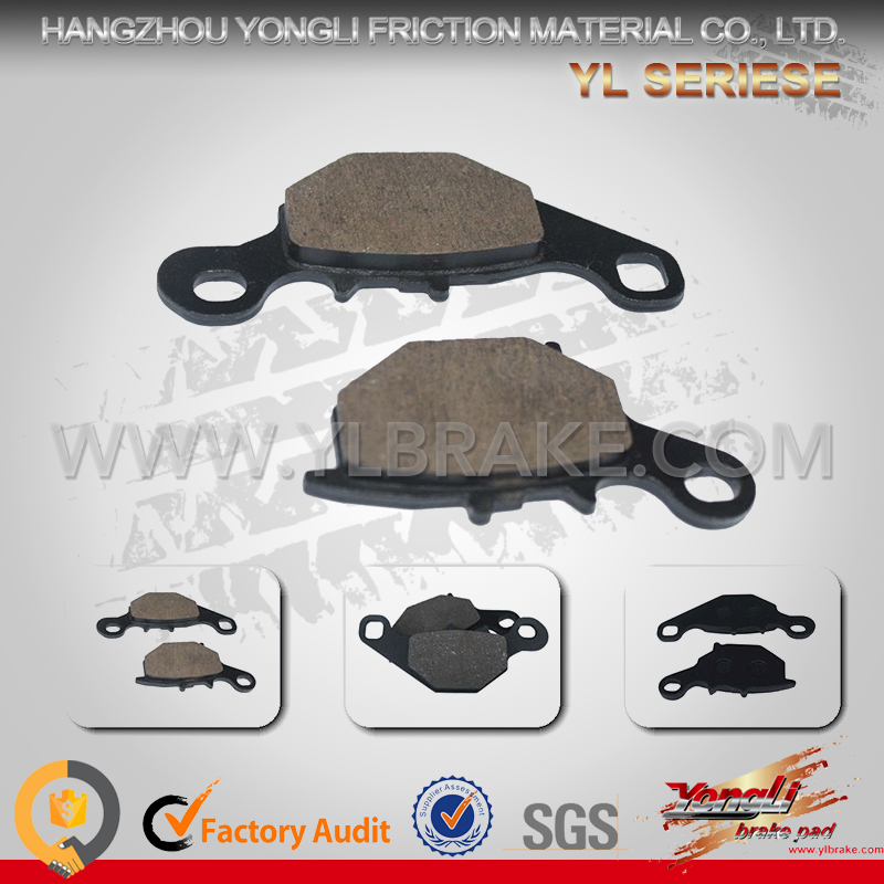 Factory Customized China Supplier brake pads Names Of Motorcycle Parts