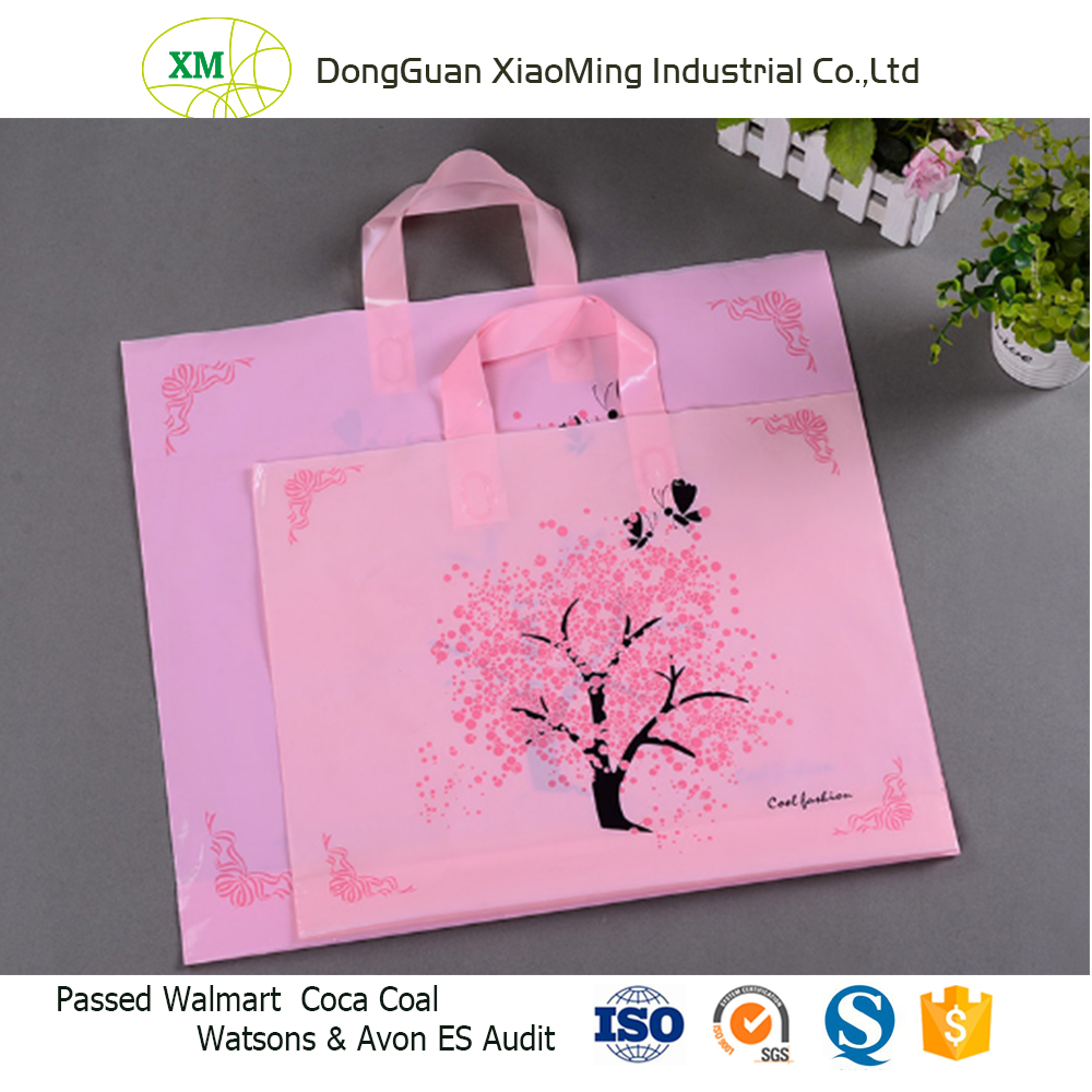 Cheap Custom Made Plastic Shopping Bag with Handle