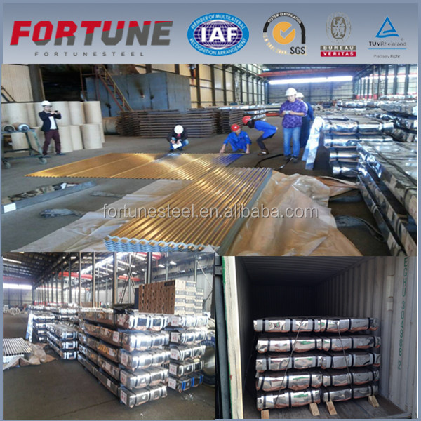 Galvalume Corrugated Steel Roofing Metal Coils / Steel Wave Tiles Cold Rolled Sheet