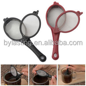 2pcs Coffee Tea Filter Mesh Infuser Spoon Travel Office Home Brew Stick Tool Kit