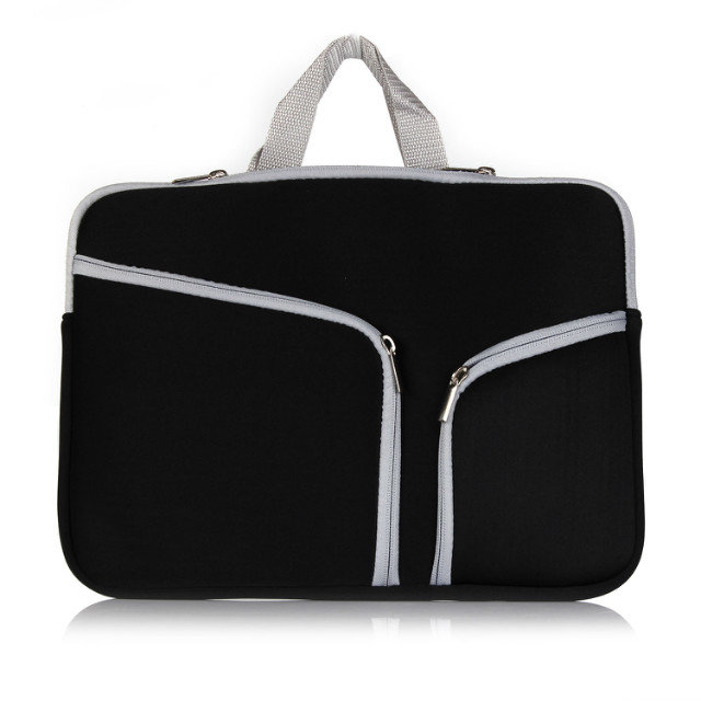 Fashion Colors Laptop Neoprene Sleeve Handle Bag for macbook in all sizes, classic black