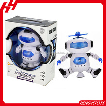 Hot sale funny robot kid battery operated toy plastic electric dancing robot with light and music