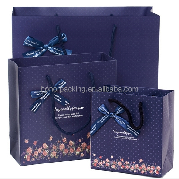 In Stock Fancy Design Garden Flowers Clothes Shopping Packing Storage Gift Paper Bags