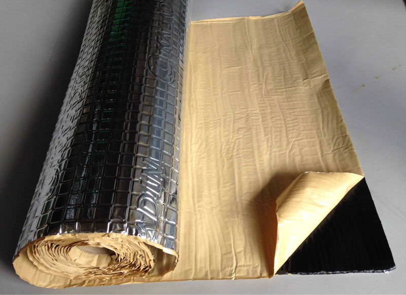 High density ECO-friendly butyl rubber pad vehicle sound deadening