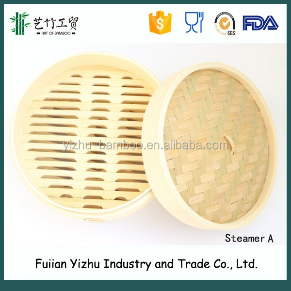Wholesale Chinese Bamboo Steamer Basket/optima bamboo steamer with round shape