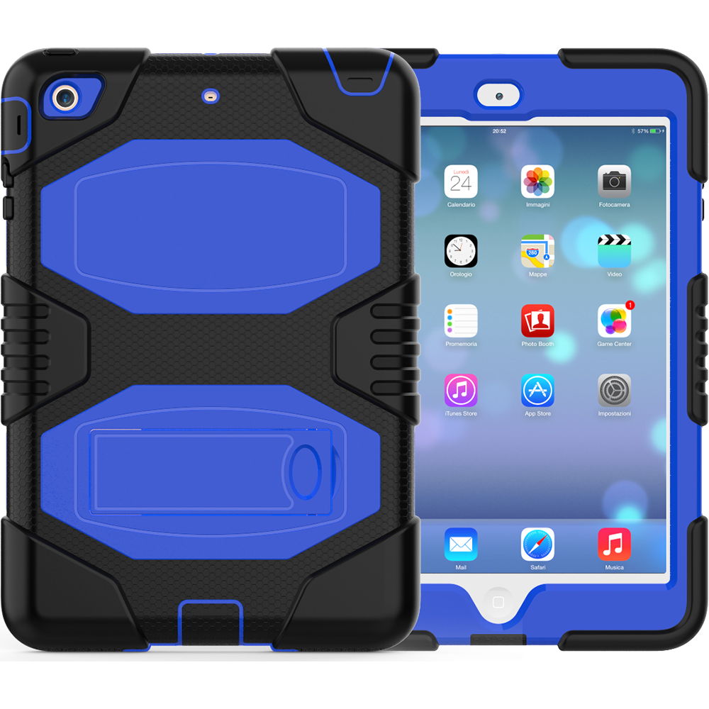 Kid Proof Shockproof Hard PC Soft Silicone Case For iPad Mini 1/2/3
