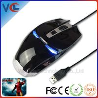 Usb optical wired gaming mouse with iron man