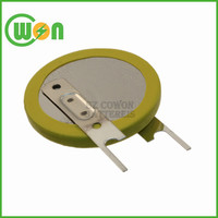lithium battery 3v cr2032 with solder tabs tags terminal