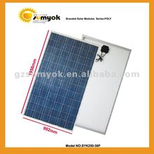 Solar cell panel poly 250W SYK250-36P big power solar module for home system