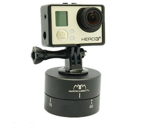 360 Degree Time Lapse 60 minutes dslr <strong>Phone</strong> Tripod Head for Gopro Hero 5 4 Session Yi 4K SJCAM