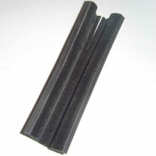 Car Window Extruded EPDM Rubber Profile Flock Lined