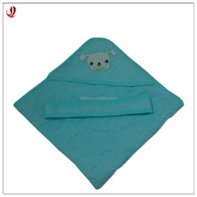 Custom High Quality Pure Cotton Jacquard Baby Hooded Towel