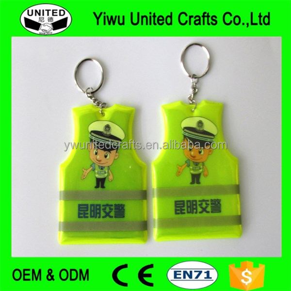 High visibility reflective pendant ,reflex keychain soft hangers and reflective armband reflector slap band