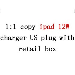 Free DHL shlpping wholesale tablet pc 10w charger high quality US plug for ipad 12W with retail box