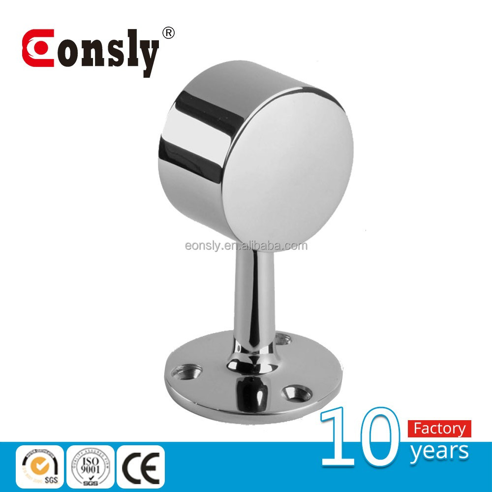 AISI adjustable mirror/satin round handrail support/ brackets for handrail railing balustrade from guangzhou eonsly