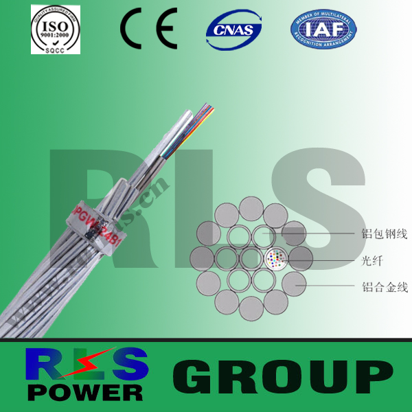 Opgw Cable Composite Overhead Ground Wire With Optical Fibers( Opgw ...